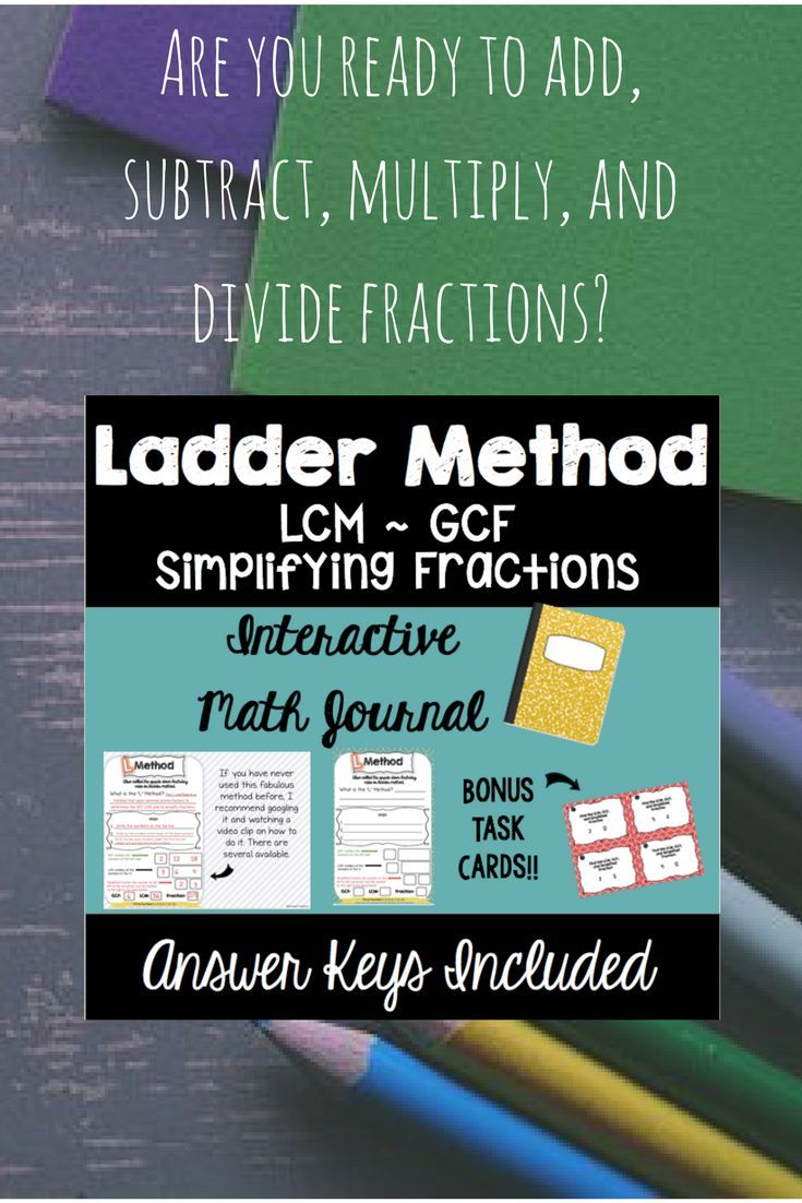 Ladder Method - Interactive Math Journal with Task Cards | Prime ...