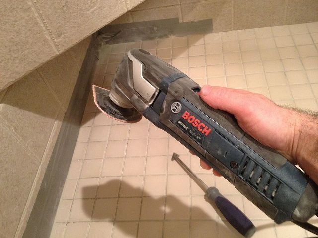 The Best Grout Removal Tools For Shower Tile Floors Home Maintenance Repairs Bosch Multi Tool And Triangular In This Photo