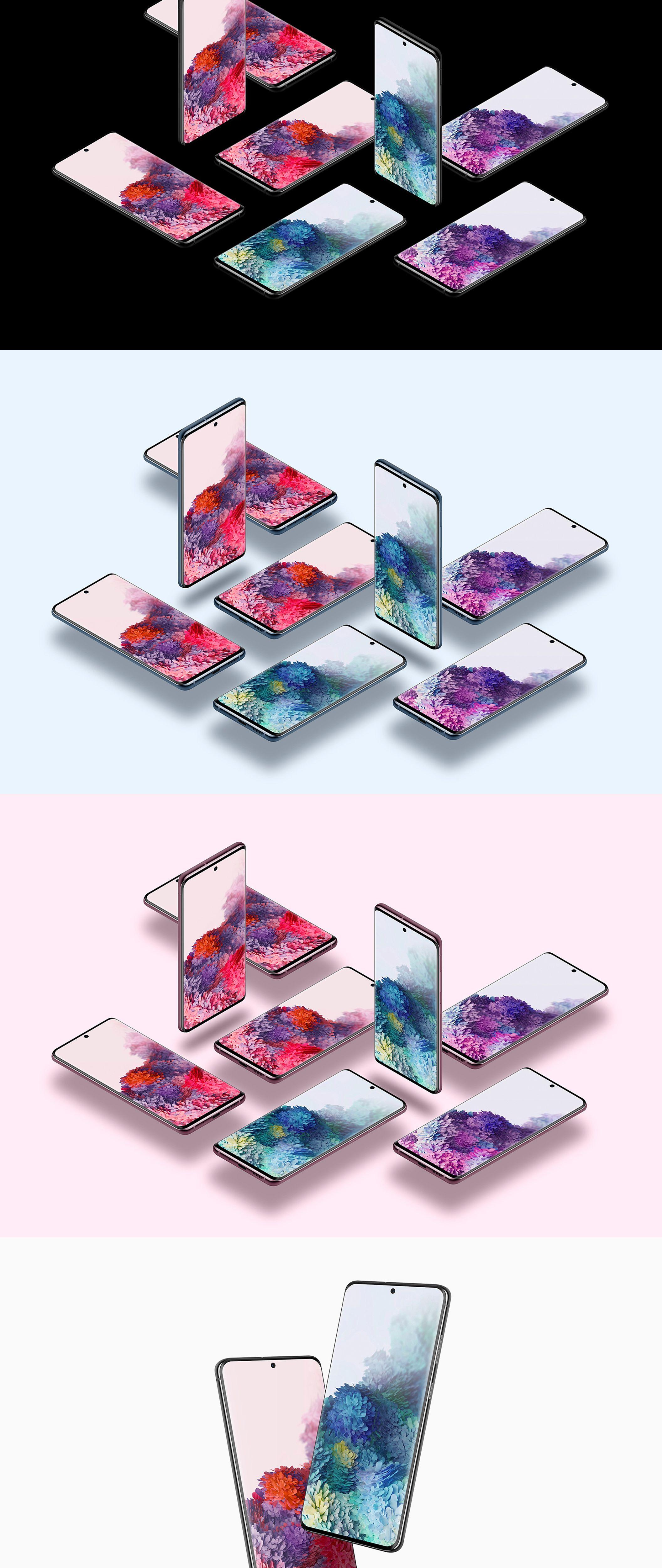 Samsung Galaxy S20 20 Mockups — Mockups on UI8 in 2020