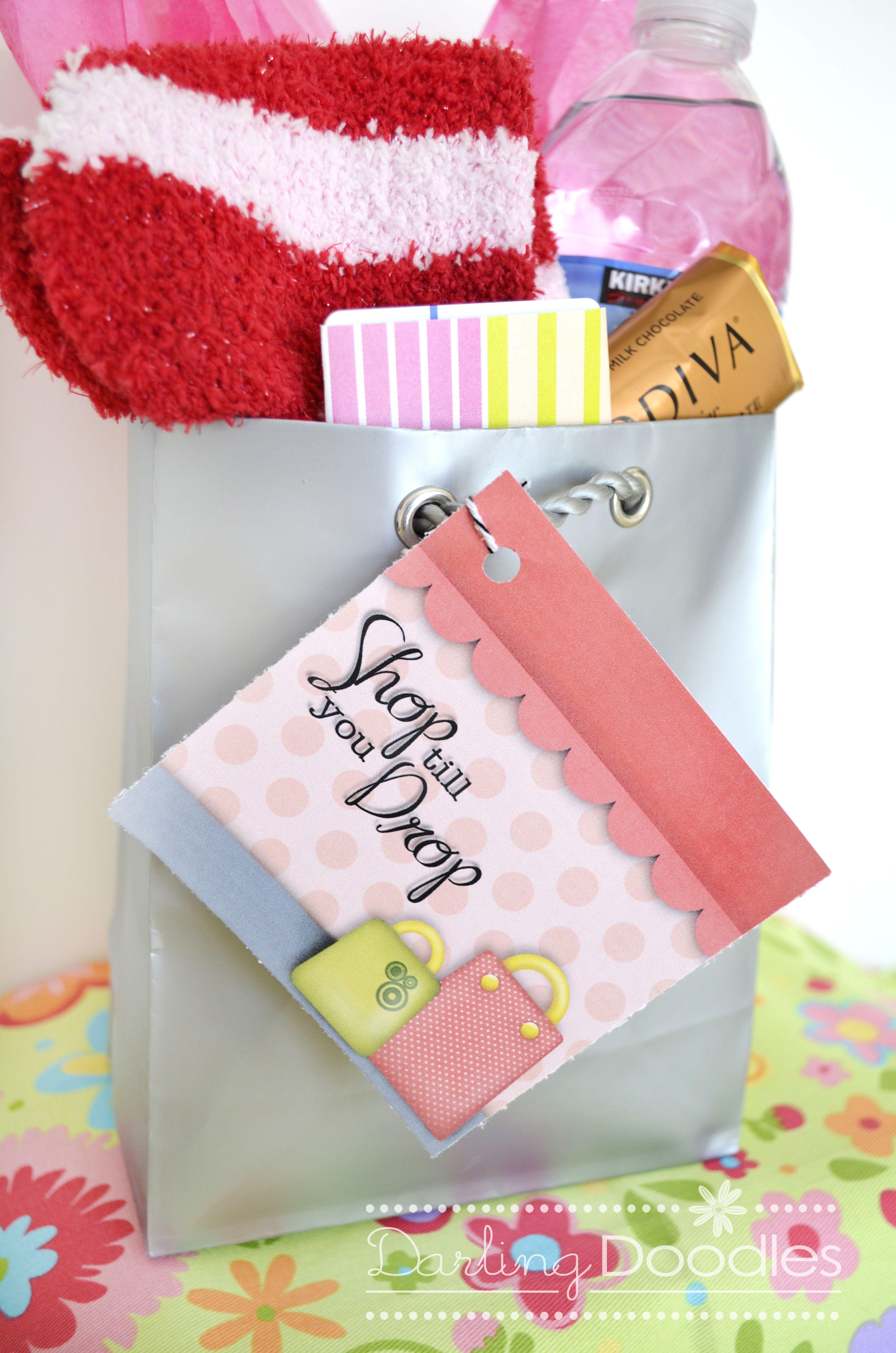 Shop Til You Drop Gift Idea + free printable