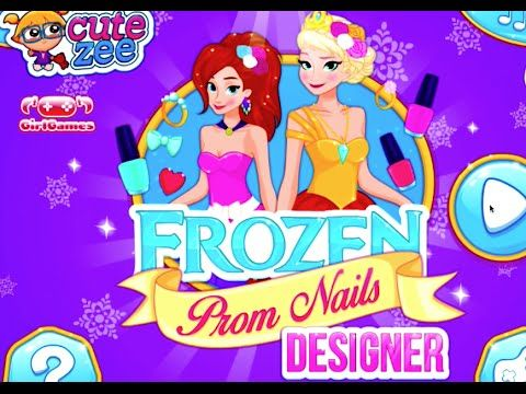 Frozen Disney Princess Elsa Prom Nails Designed Game For Kids And