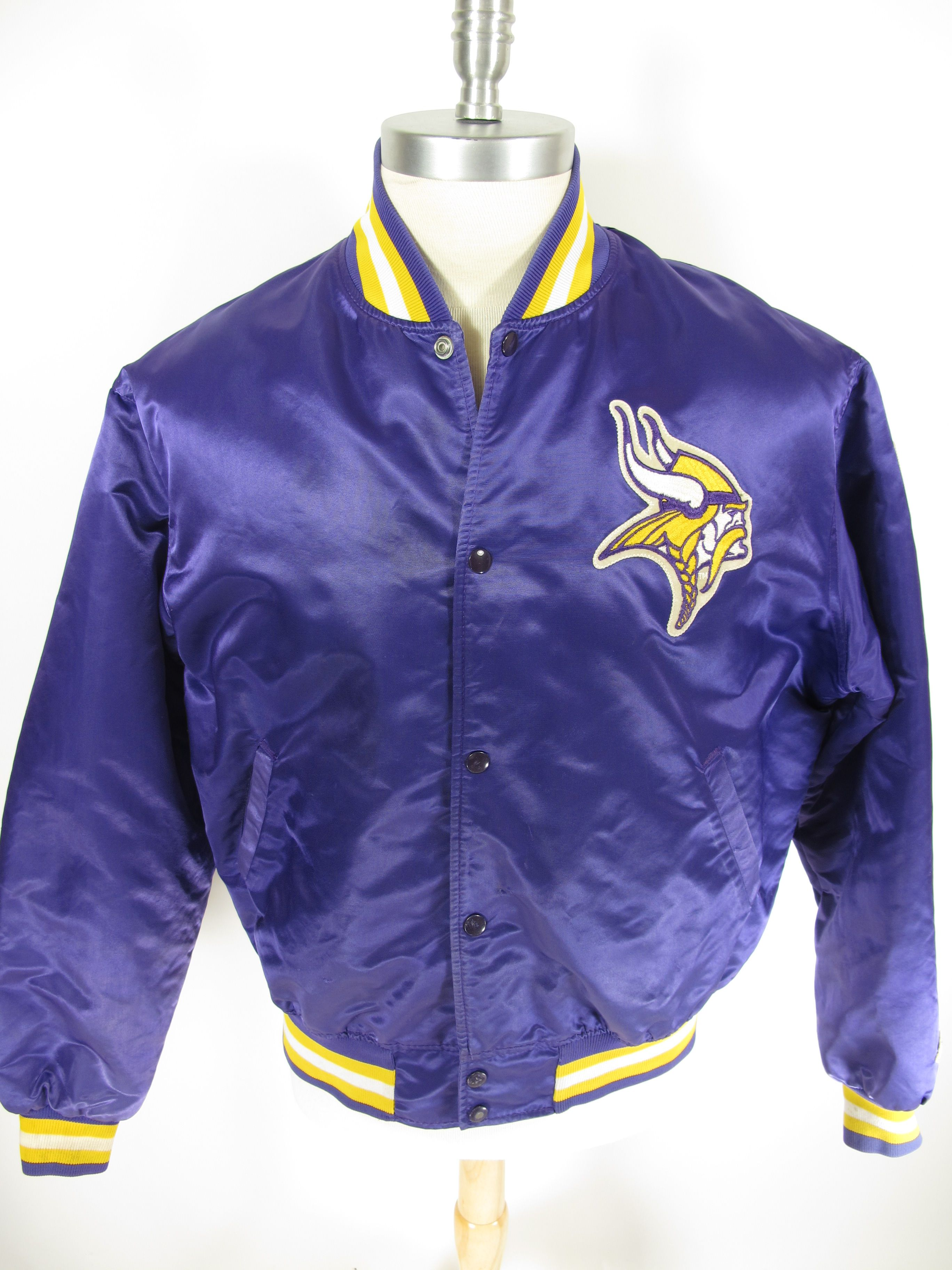 d3a668a3e Vintage 80s Starter NFL Vikings satin jacket. Find more men s and women s authentic  vintage clothing at The Clothing Vault.