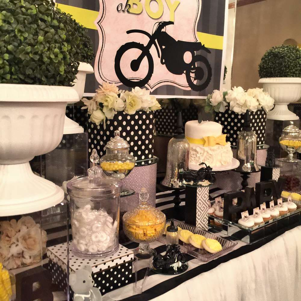 Motorcycle Theme Babyshower Baby Shower Party Ideas