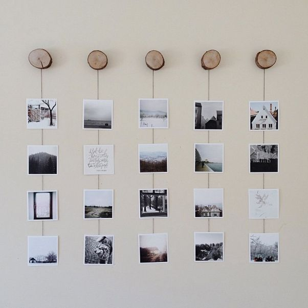 Wall Art Placement Ideas : Photo wall collage without frames layout ideas