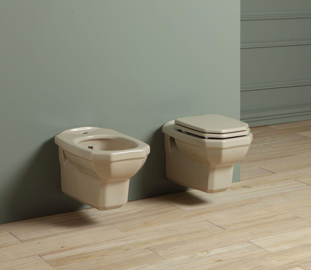 wc et bidet suspendus couleur \
