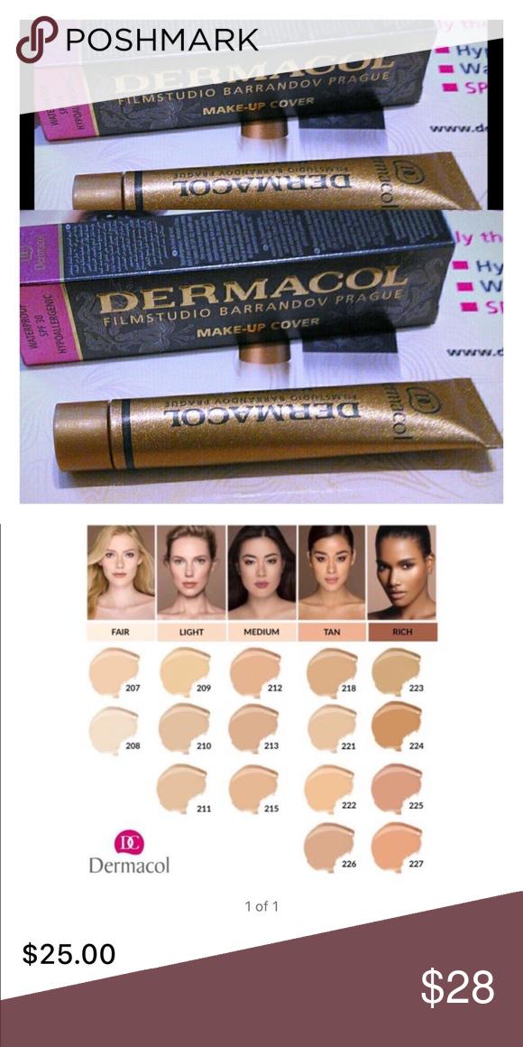 Dermacol foundation 212 212 Dermacol makeup cover