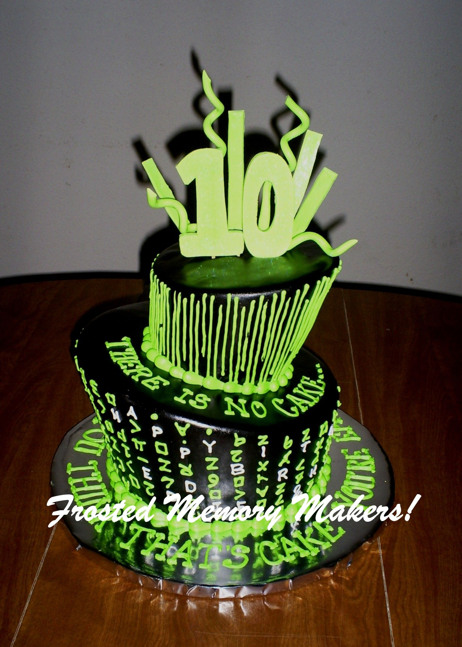 Matrix Cake Frosted Memory Maker Pinterest Cake