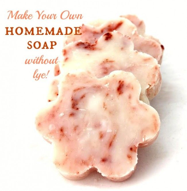 How to Make Homemade Soap - without Lye! Simple easy recipe, made with essential oils!