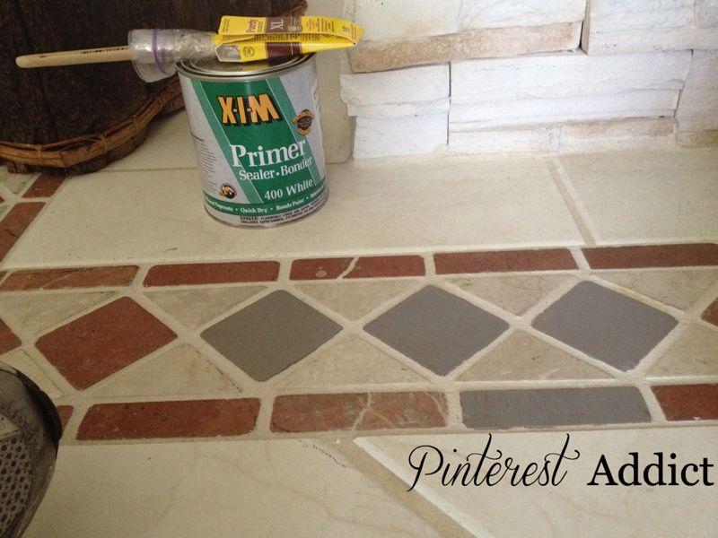 Painting Floor Tile Inspired Diy Pinterest Painting Tile