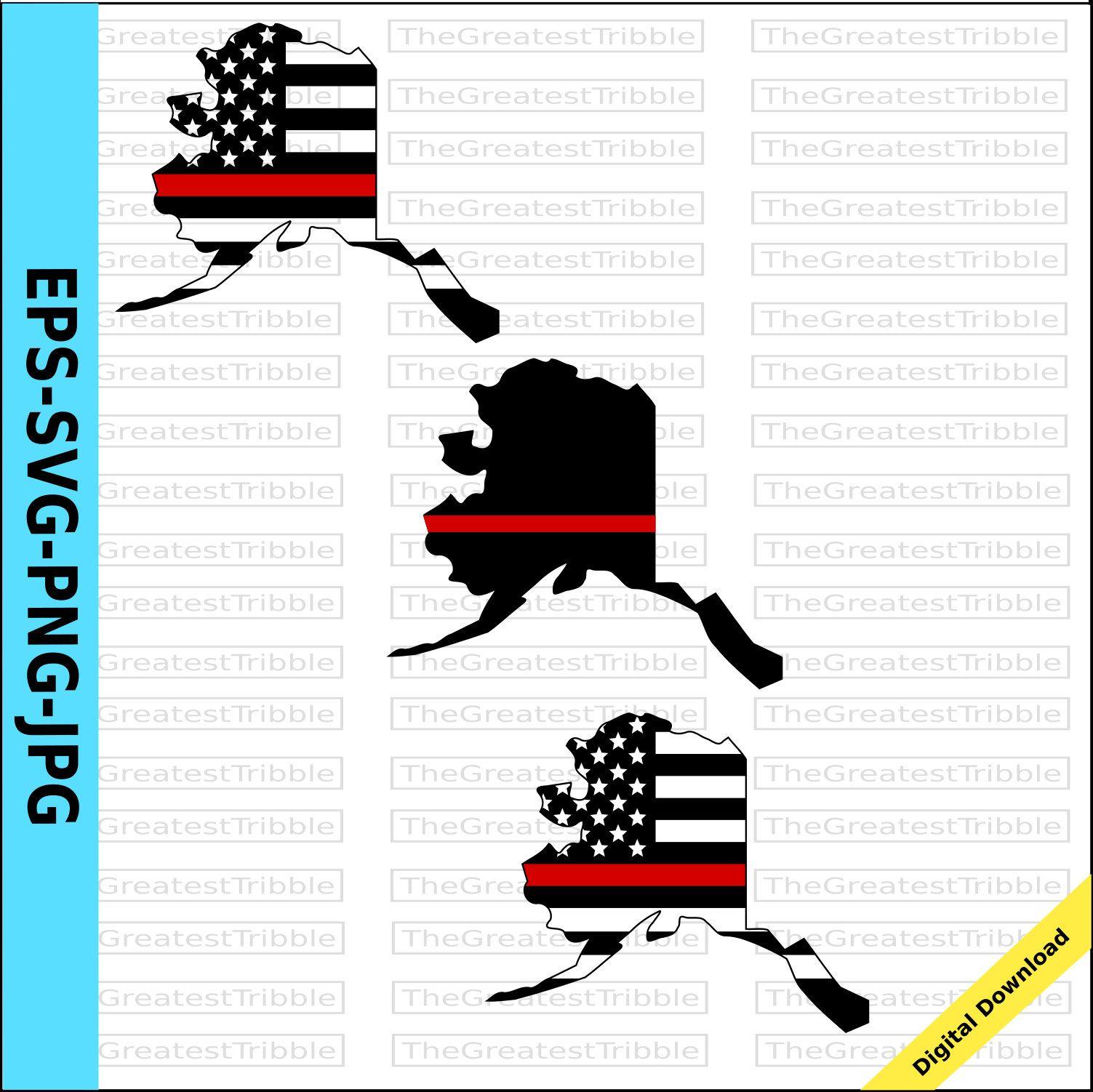 Thin Red Line Alaska Usa Flag Thin Red Line Flag Eps Svg Png Etsy Clip Art American Flag Clip Art Alaska Usa
