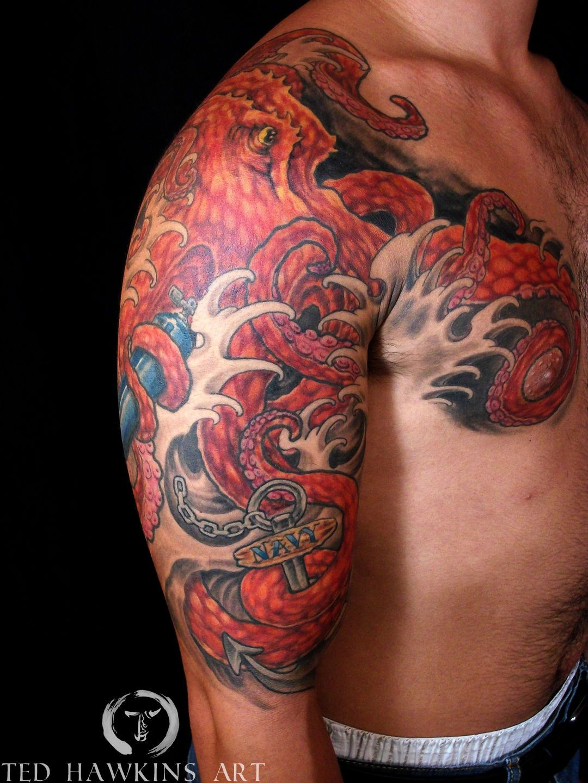 japanese octopus tattoo google search tebori tattoo
