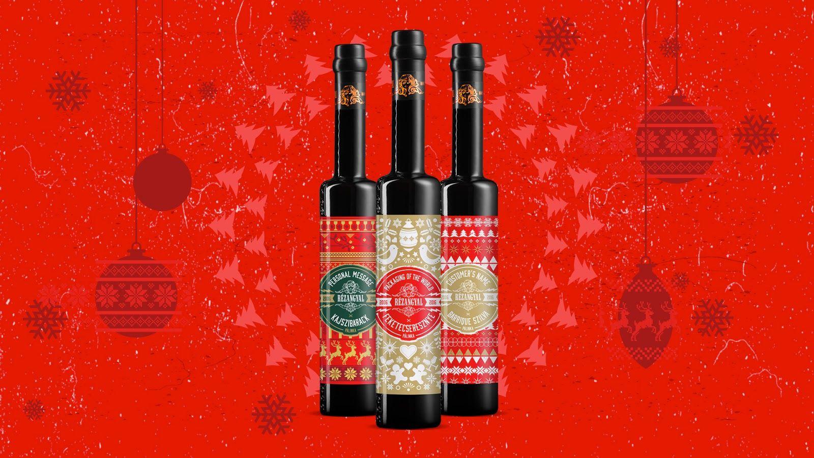 Rezangyal X Mas Labels With Personal Message Packaging Design Inspiration Bottle Design Packaging Design