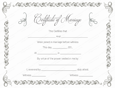 free printable marriage certificate templates tree pinterest