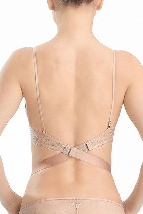 f4313eb92fe8a The Natori Disclosure Scoop Contour bra is convertible and offers feminine  solutions to help you look your best under your low back dresses and tops.