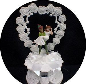 peter pan and wendy wedding cake topper sweet pan amp wendy disney and groom moonlight 18306