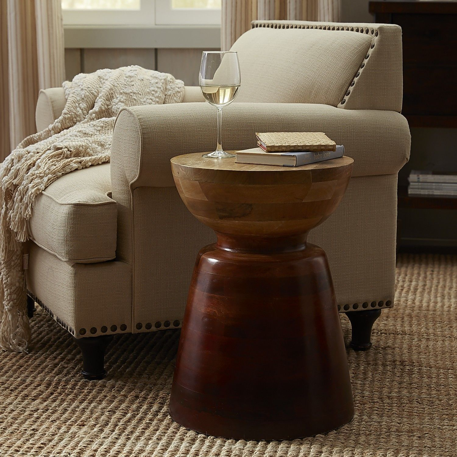 Avani Drum Accent Table Pier 1 Imports Coffee Table Wood