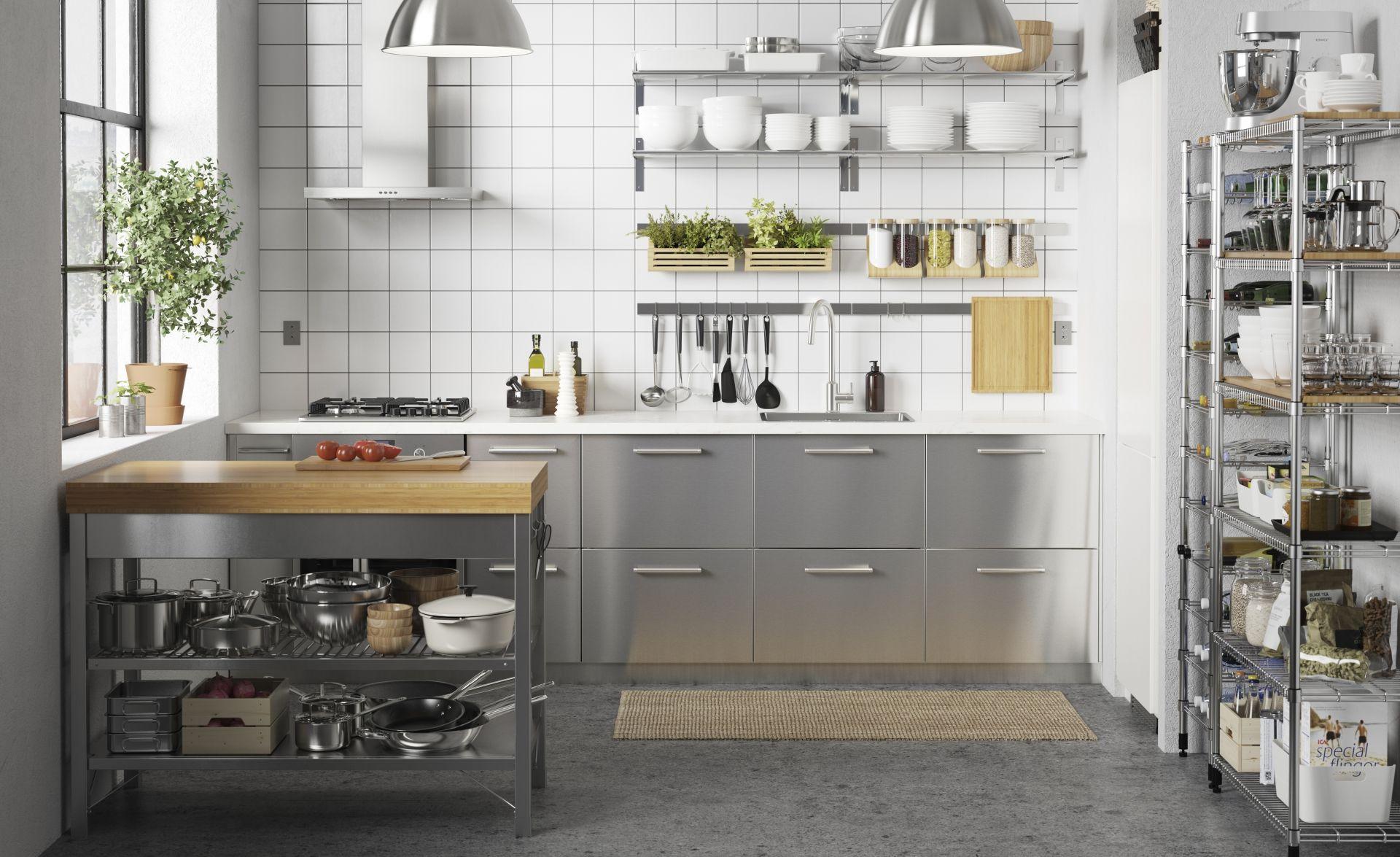 Hedendaags GREVSTA Deur - roestvrij staal 60x100 cm (met afbeeldingen) | Ikea GC-91