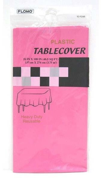 hot pink rectangular table cover Case of 36