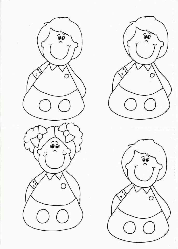 Titeres De Dedo Para Colorear Manualidades Para Niños