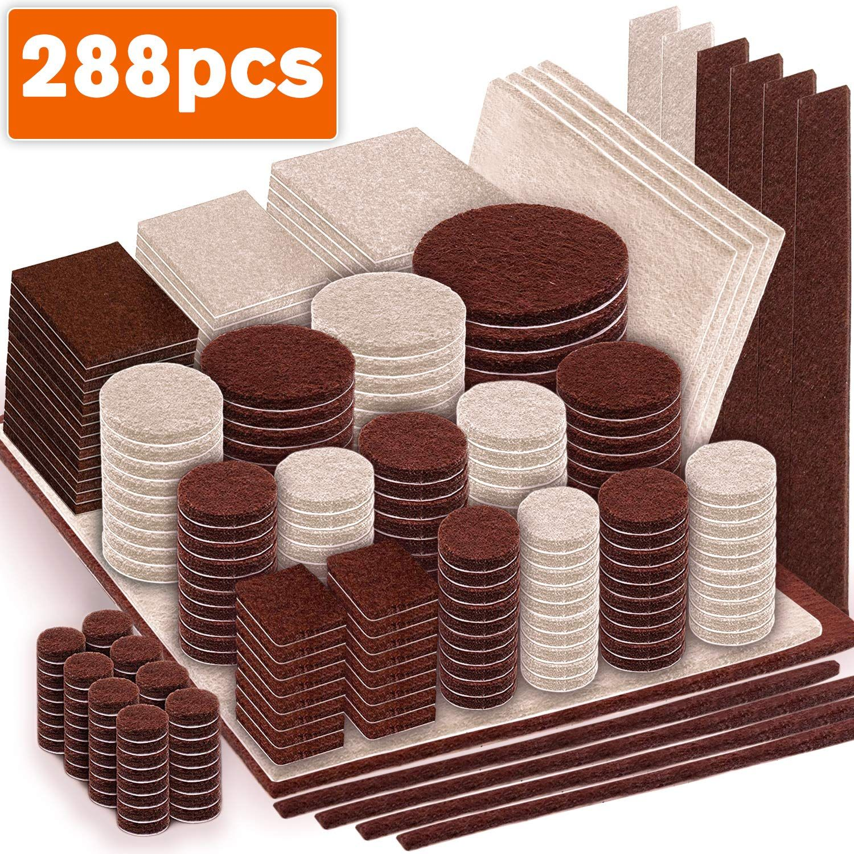 Maveek 288 Piece Premium Furniture Felt Pads Furniture Feet Pads Brown 169 Beige 119 Various Sizes B In 2020 Felt Furniture Pads Coaster Furniture Best Wood Flooring