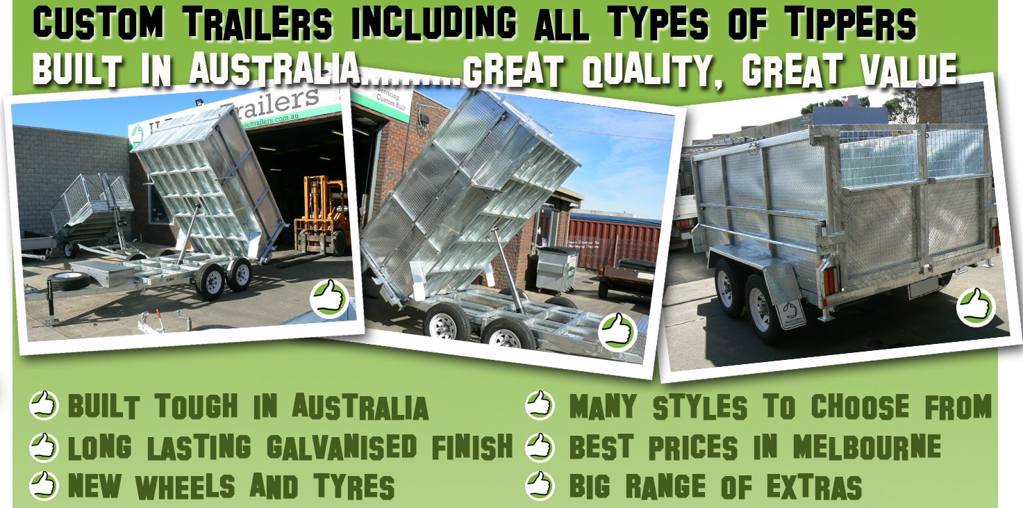 Box trailer or car trailer with 100% new parts with a 1 yr ...