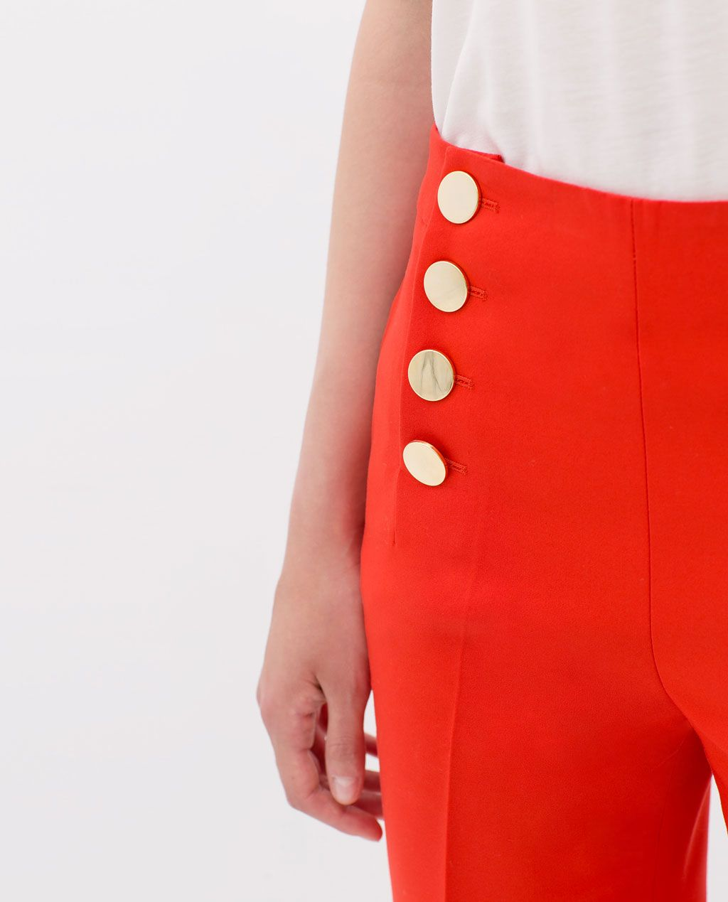 ZARA - SALE - TROUSERS WITH FRONT BUTTONS