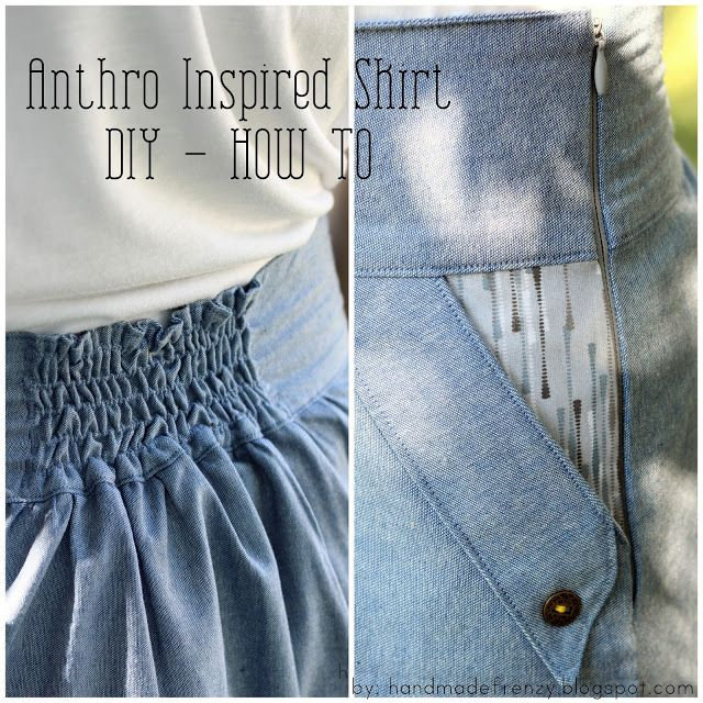 Anthropologie Inspired Skirt - DIY How-To