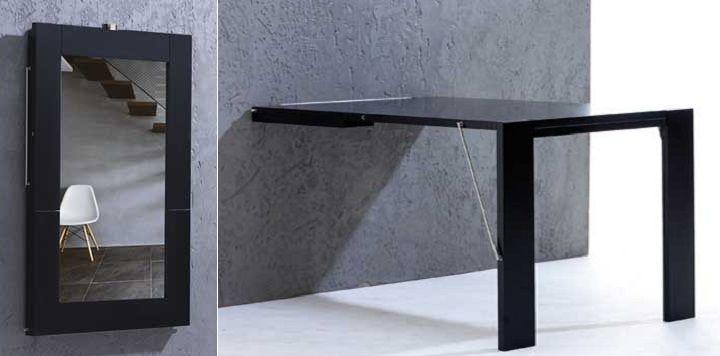 Una mesa plegable que se cuelga en la pared casa mesas - Mesa plegable diseno ...