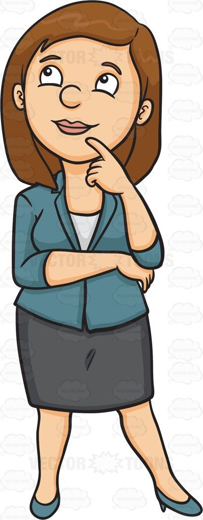 Woman Thinking Clipart