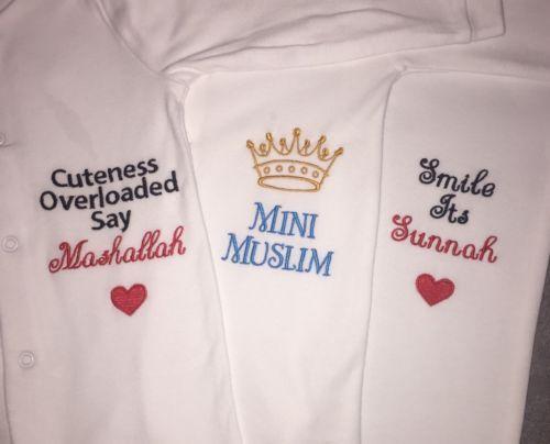 Personalised baby islam muslim sleepsuit gro gift keepsake boy personalised baby islam muslim sleepsuit gro gift keepsake boy girl eid negle Choice Image