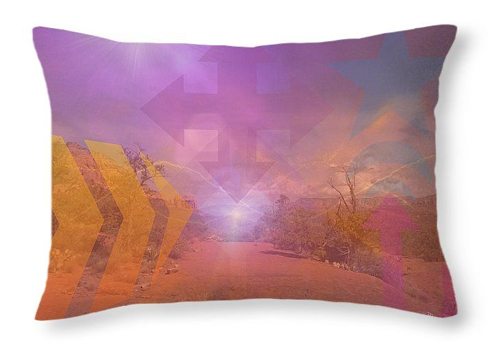 """Mystery in Shapes Throw Pillow 20"""" x 14"""""""
