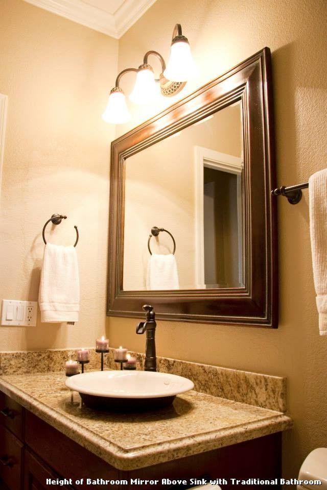 Height Of Bathroom Mirror Above Sink