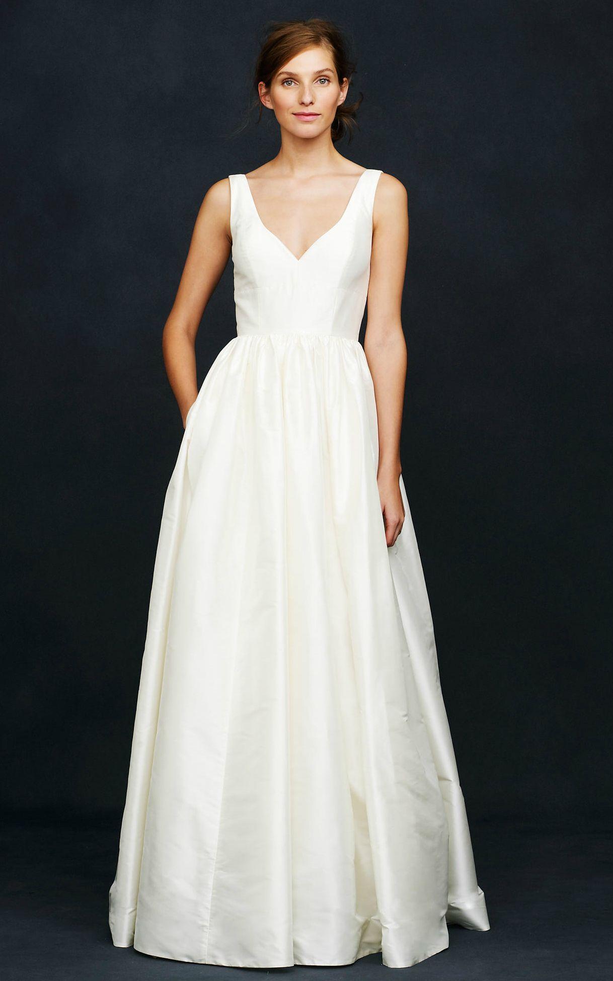 Jcrew wedding dress  Karlieu silk ballgown wedding dress with vneck from JCrew