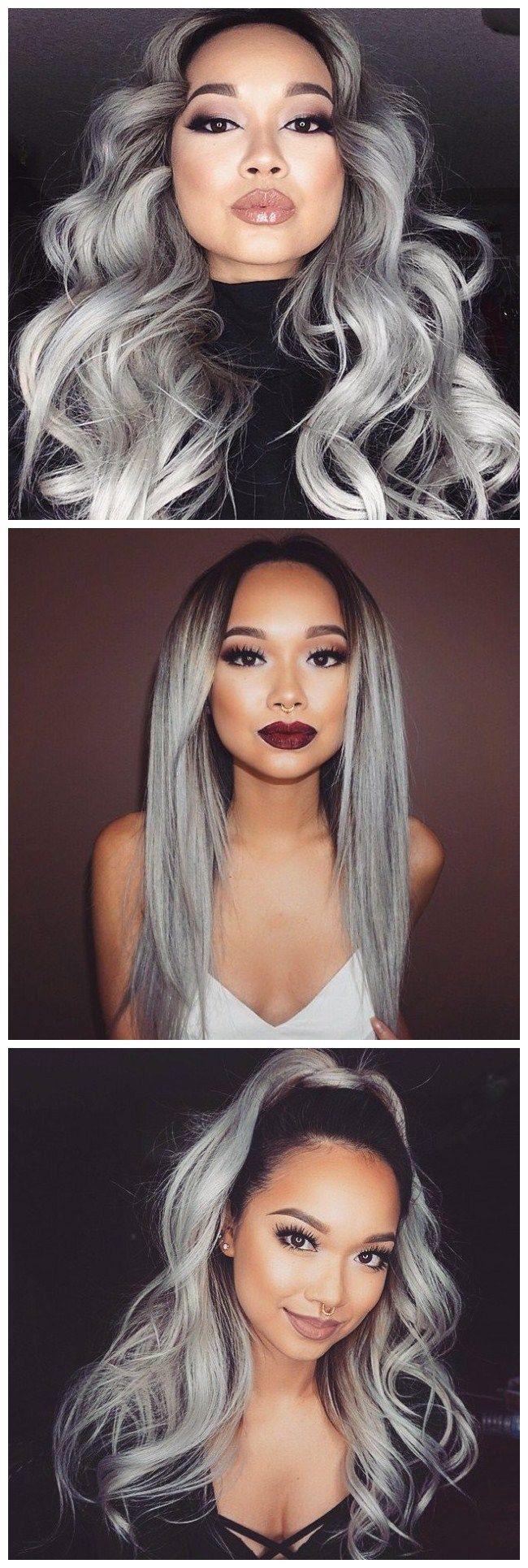 108 00 3 Bundel Brasilianisches Haar Grosse Wellen Ombre Menschliches Haar Webarten Haarverlangerungen With Images Grey Hair Weave Hair Styles Weave Hairstyles