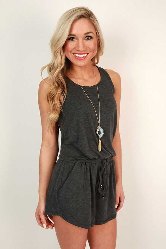 33150414dbc Twist Of Fate Romper in Charcoal