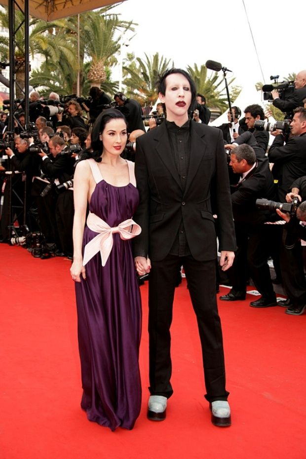 Marilyn Manson With His Ex Wife Dita Von Teese Dita Von Teese Bridesmaid Dresses Dresses