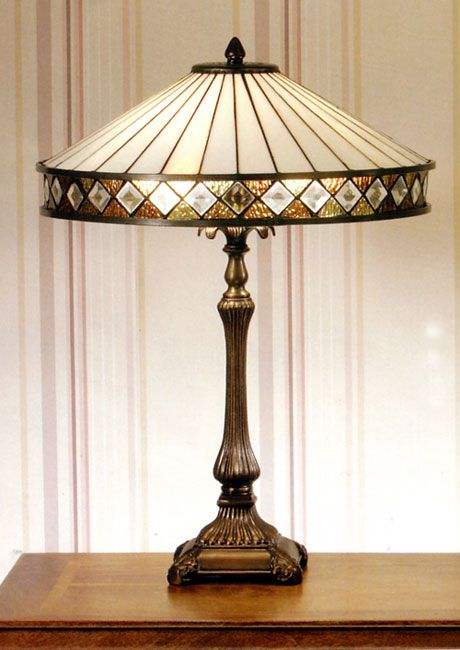 Fargo Art Deco Style Tiffany Table Lamp In T004sh40 Db420 Tiffany Table Lamps Tiffany Style Table Lamps Tiffany Style Lamp