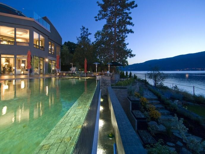 Amazing mountain designs home pinterest home for Pool design kelowna