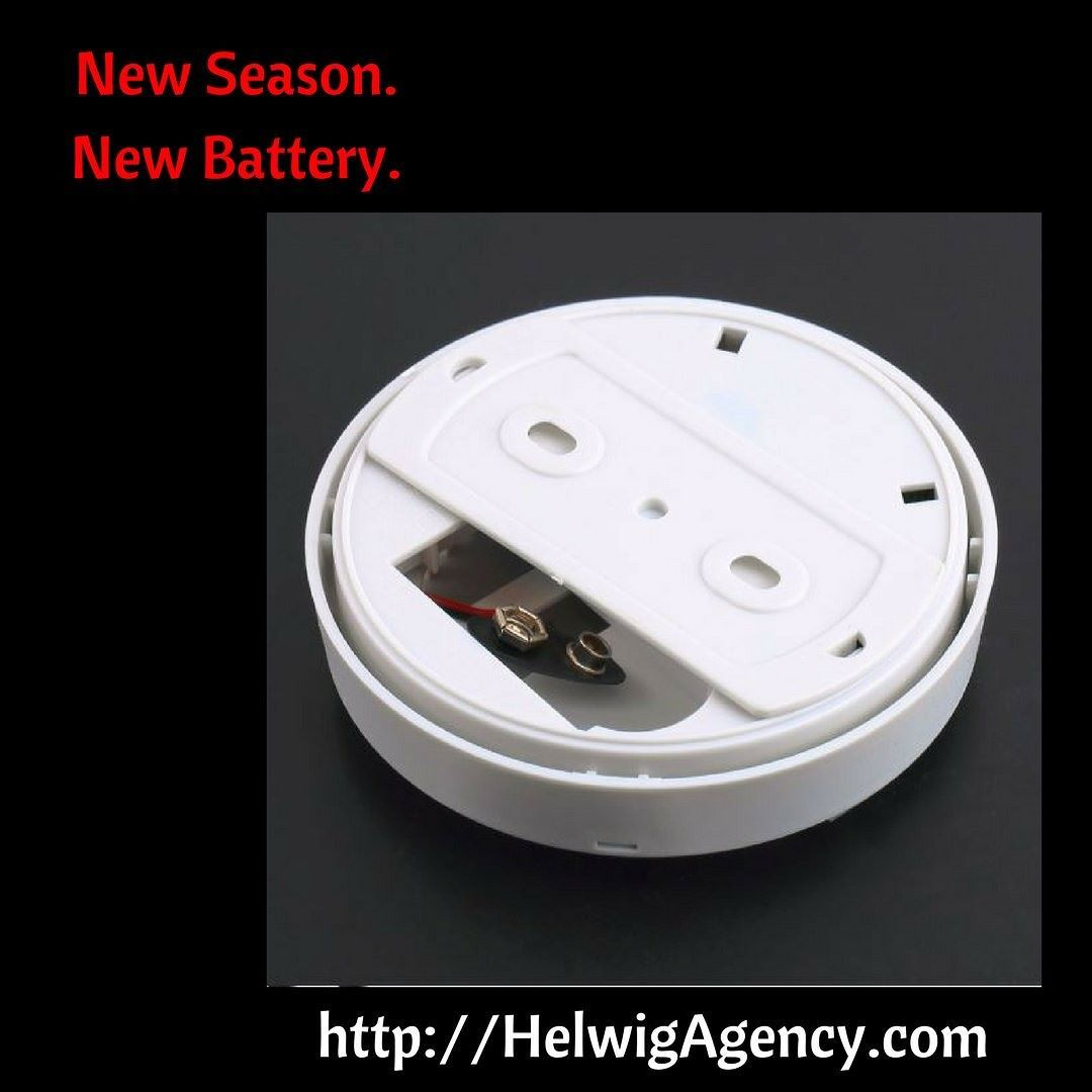 Have you changed the batteries in your smoke detectors