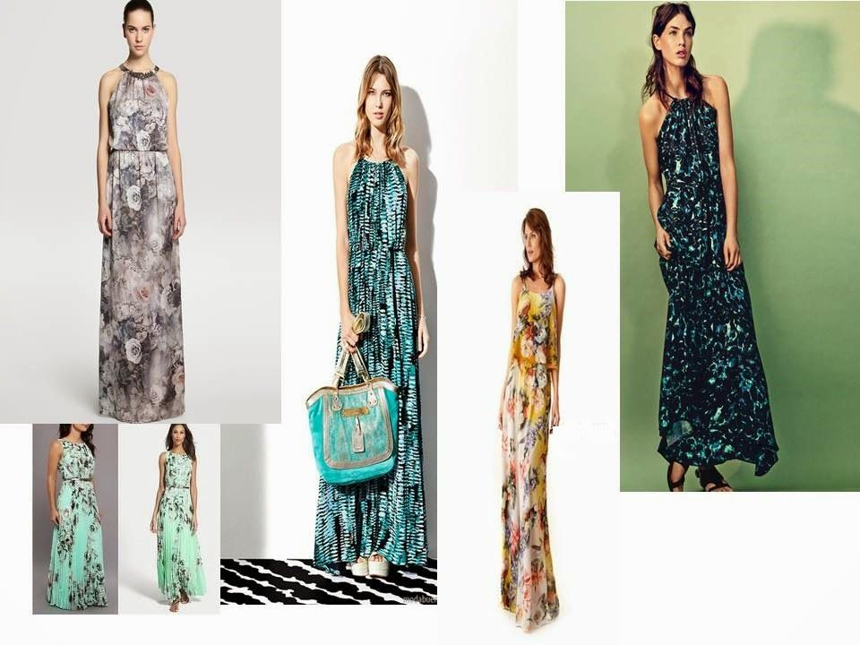 Patrón gratis: vestido largo estampado para celebraciones de verano ...