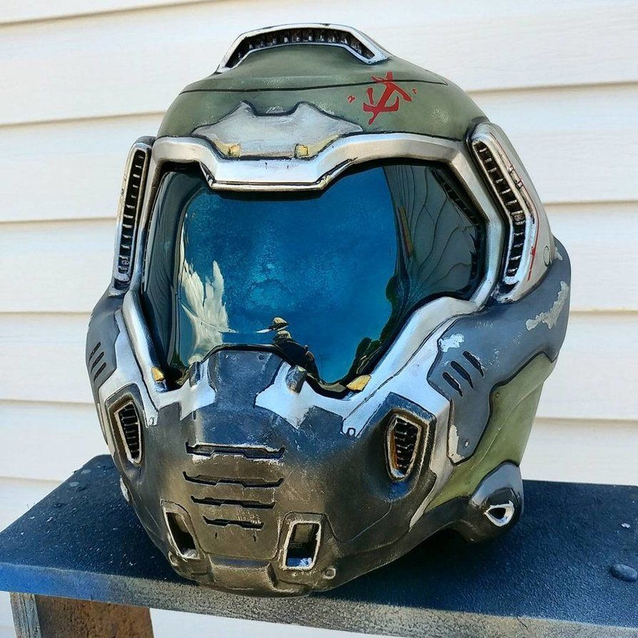 Doomslayer Replica Helmet By Johnsonarmsprops This Guy Does
