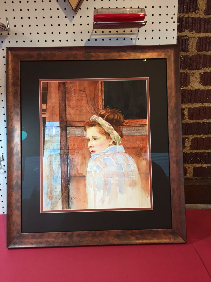 Kathy Sturch water color framed with Larson Juhl Florentina Rosso ...