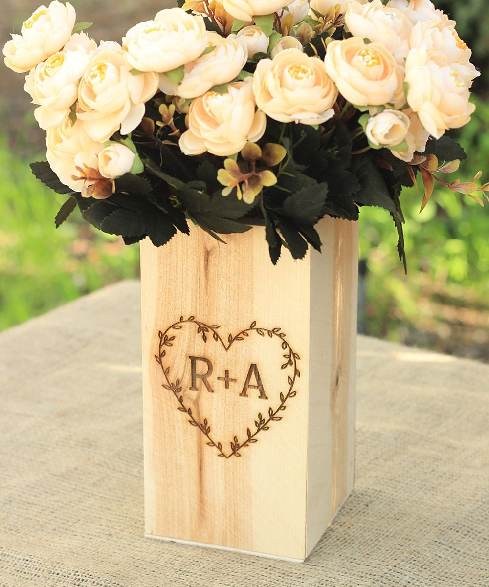 party personalized rustic bridal media wedding birch gift shower bridesmaids vase christmas custom