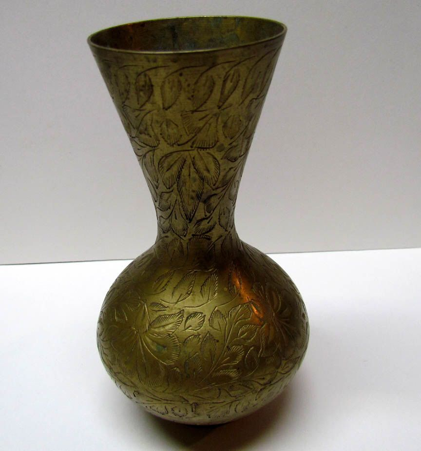 Vintage Brass Decorative Vase, Made In India   Home Decor   Collectable  Brass By VINTAGEandMOREshop