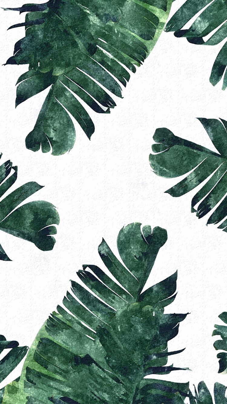 Tropical leaves iPhone wallpaper