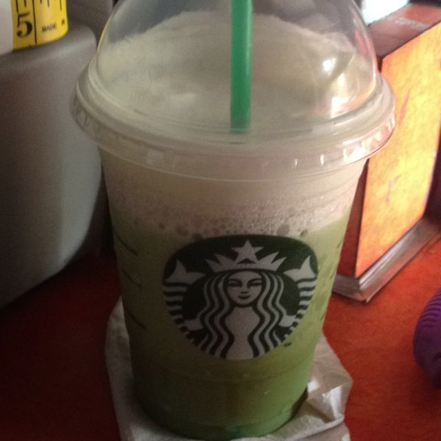 Yummy, Green Tea Frap from Starbucks