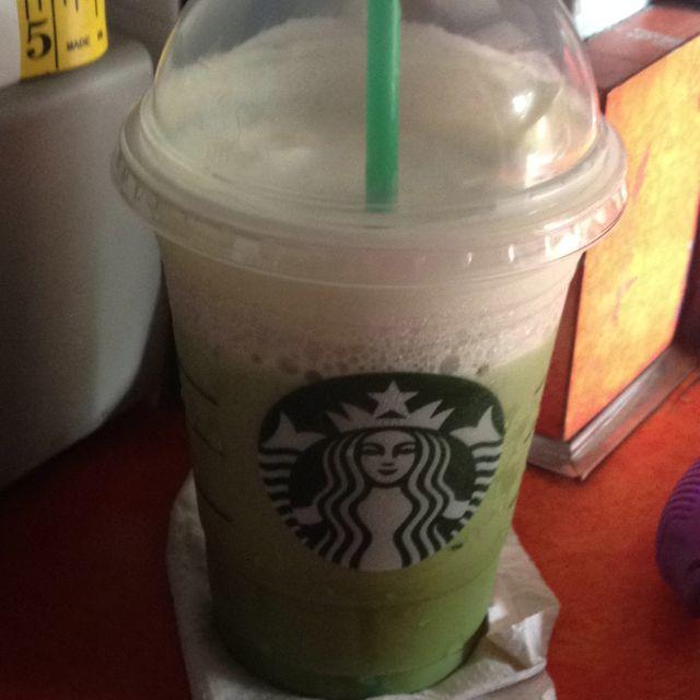 Yummy, Green Tea Frap from Starbucks