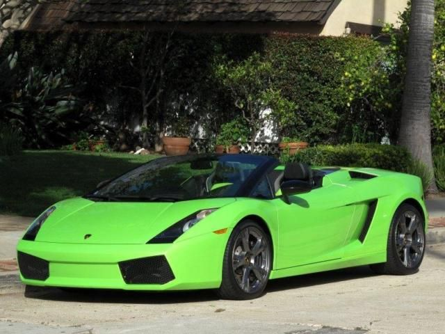 2008 Lamborghini Gallardo Lime Green My Rental Car In Las Vegas