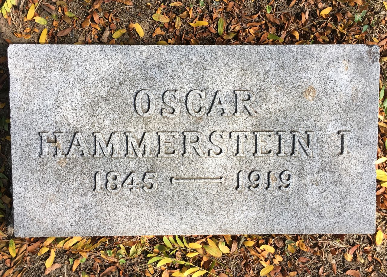 Oscar Hammerstein, I - German-born businessman, theater impresario, and composer in New York City. His passion for opera led him to open several opera houses, and he rekindled opera's popularity in America. He was the grandfather of American lyricist Oscar Hammerstein II and the father of theater manager William Hammerstein and American producer Arthur Hammerstein.