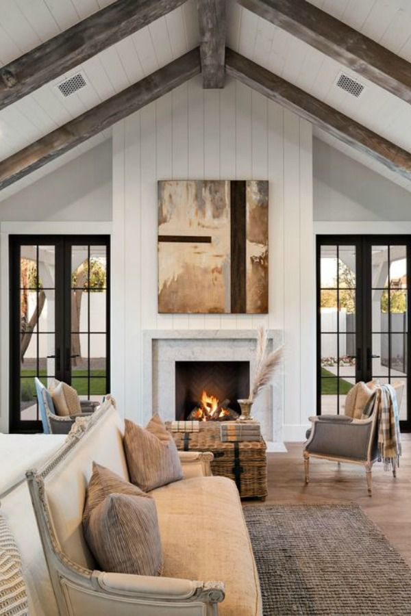 Photo of Black & White Modern Farmhouse Meets Classic Tudor Style in